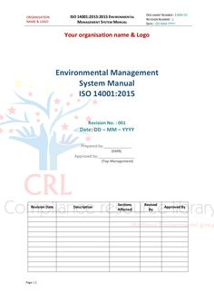 environmental and social management system manual
