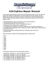 2013 kia optima service manual