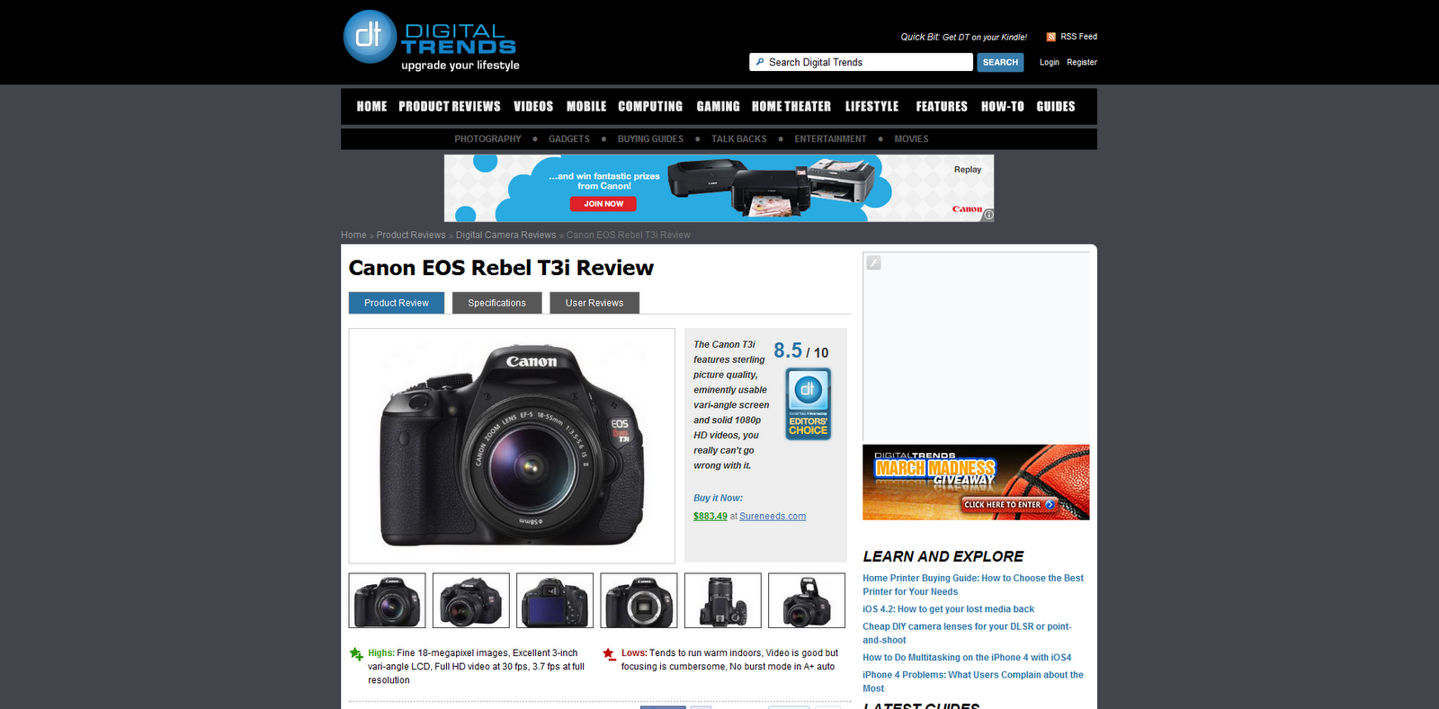 canon eos rebel t3i digital camera manual