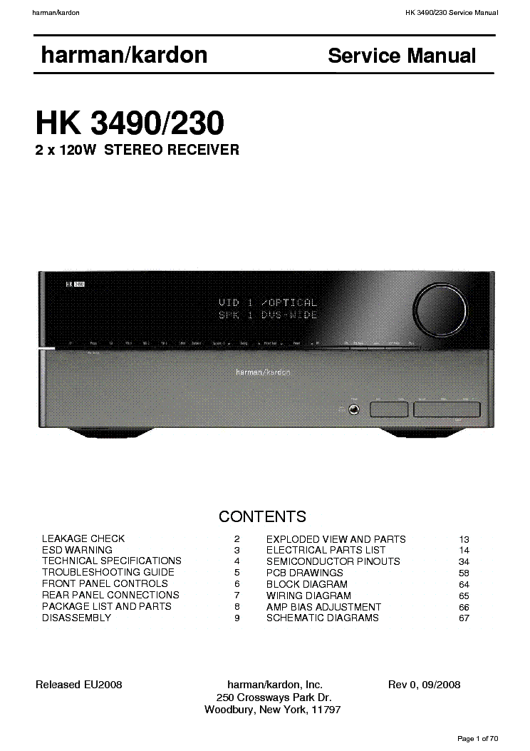 harman kardon hk 3490 manual